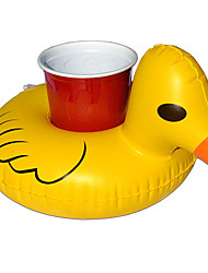 Pool Float 10pcs/set Outdoor Swimming Inflatable Yellow Duck Drink Cup Holder Beach Float Mini Drink Pool Toy