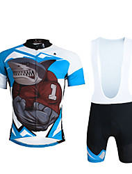 ILPALADINO Maillot de Ciclismo con Shorts Bib Hombre Unisex Manga Corta Bicicleta Petos de deporte/Culotte con tirantes Camiseta/Maillot