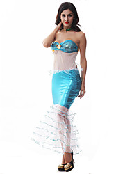 Cosplay Costumes Party Costume Mermaid Tail Fairytale Festival/Holiday Halloween Costumes Blue Patchwork DressHalloween Christmas