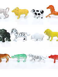 12pcs Animal Action Figures Set Modeling Elephant / Baboon / Lion / Mountain cow / Goat / Wild boar / Hedgehog