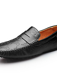 Men's Shoes Cowhide Office & Career / Casual Flats / Oxfords / Clogs & Mules Office & Career / Casual Walking Flat Heel
