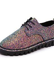 Da donna-Sneakers-Tempo libero Casual-Comoda-Piatto-Lustrini-Nero Blu
