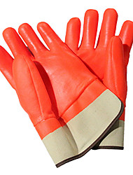 OZERO® PVC Waterproof Wear Thick Gloves To Catch Fish Cold Comfort Acid Industrial Gloves