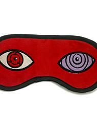 Masque Naruto Sasuke Uchiha Anime Accessoires de Cosplay Rouge Velours côtelé