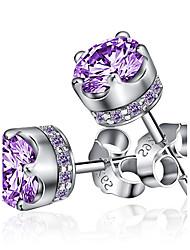 Stud Earrings Women's Brass Earring Rhinestone