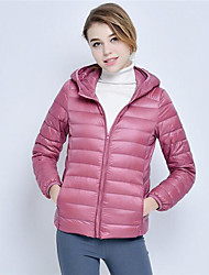 Women's down jacket, simple / street fashion / active with long sleeves