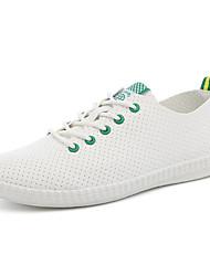 Herren-Flache Schuhe-Sportlich-PU-Flacher Absatz-Komfort-Schwarz Blau Grün