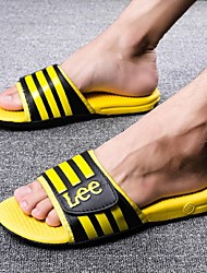 Men's Shoes Leather Outdoor / Athletic Sandals Outdoor / Athletic Sport Sandals Flat Heel Others Blue / Yellow / Gray
