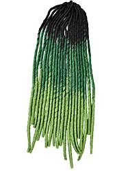 Vert La Havane dreadlocks Extensions de cheveux 20 inch Kanekalon 20 roots Brin 100g gramme Braids Hair
