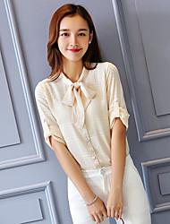 Wake Up® Women's V Neck 3/4 Length Sleeve Shirt & Blouse Pink / Purple-XFS16165