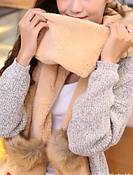 Women Faux Fur Scarf,Cute Rectangle