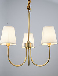 Chandelier ,  Country Brass Feature for Designers Metal Bedroom Dining Room Study Room/Office Kids Room