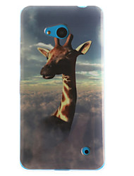 Giraffe Painting Pattern TPU Soft Case for Microsoft Nokia Lumia 640/530/630