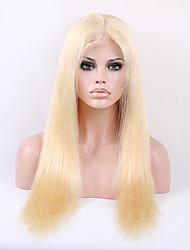 8a volle Spitze-Menschenhaarperücken blonde 613 des brasilianischen reinen Haares gerade gluless volle Spitze-Menschenhaarperücken für