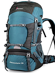 70 L Backpack Camping & Hiking Outdoor Waterproof / Compact Others Oxford