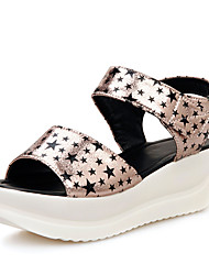 Women's Shoes Platform Platform / Creepers / Open Toe Sandals Office & Career / Dress White / Gold / Taupe