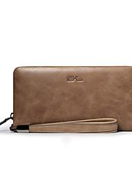SL Top Grade Cowhide Men Business Fashion Clutch Bag Large Capacity Clutch Bag Multi-function Wallet