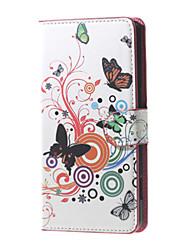 Pour Coque Huawei P9 P9 Lite P8 P8 Lite Portefeuille Porte Carte Coque Coque Intégrale Coque Papillon Dur Cuir PU pour HuaweiHuawei P9