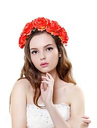 Femme Polyester / Tissu Casque-Mariage / Occasion spéciale / Extérieur Couronnes 1 Pièce Multicolore Fleur 28-33cm