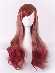 más vendido de Europa y los Estados Unidos el pelo largo de color marrón degradado peluca pelucas rizadas 26 pulgadas