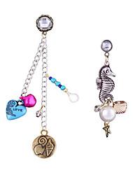 Fashion Trend Nifty Small Seahorse Asymmetry Earrings