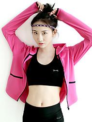 Femme Course / Running Survêtement Garder au chaud Séchage rapide Confortable Vêtements de sport Course/Running Rose dragée Noir