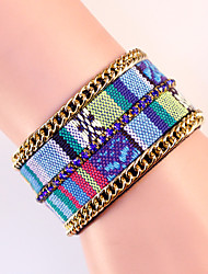 Bohemia Wide Magnet Buckle Bracelet National Wind Embroidery Pope Alloy Magnetic Clasp