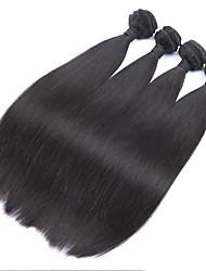 1pc/Lot Brazilian Virgin Hair Weft Silk Straight Virgin Human Hair Extension Natural Color Brazilian Hair Extension