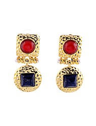 European Style Luxury Gem Geometric Earrrings Aristocratic style Drop Earrings for Women Fashion Jewelry Best Gift