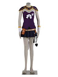 Inspiriert von Fairy Tail Lucy Heartfilia Anime Cosplay Kostüme Cosplay Kostüme Einfarbig Silber / Tintenblau Top / Rock / Stulpen