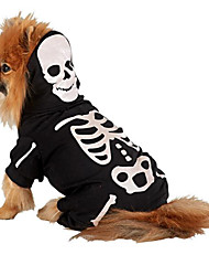 Gatos / Perros Disfraces / Mono Negro Invierno / Primavera/Otoño Cráneos Cosplay / Halloween, Dog Clothes / Dog Clothing-Other