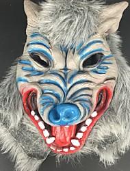 halloween horror diablo azul máscara mascarada Langtou apoyos de látex máscara de miedo headgea animales lobo