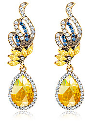 Earring Geometric Jewelry Women Fashion Wedding / Party / Daily / Casual / Sports Crystal / Alloy / Rhinestone 1 pair Gold