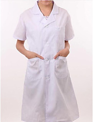 White Suit Collar Short-Sleeve Men And Women Physicians Serving Short-Sleeved White Coat / Lab Coat / Nurse