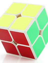 Yongjun® Cube velocidade lisa 2*2*2 Fluorescente / Velocidade / profissional Nível Cubos Mágicos Preta / Branco Plástico