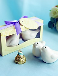 Recipient Gifts - 1Box/Set Ceramic Love Birds Salt And Pepper Shakers Wedding Favor  BETER-TC026 Lilac