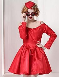 Pour My Fair Lady® Femme Licou Manche Longues Au dessus des genoux Robes-1302017