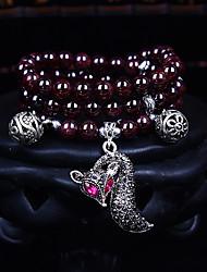 Fashionable Dark Red 80cm Round Strand Bracelets