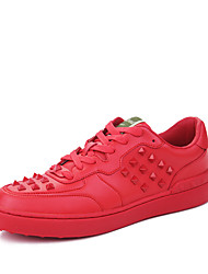 Men's Shoes Outdoor / Athletic / Casual Flats Outdoor / Athletic / Casual Walking Flat Heel Rivet / Lace-upBlack / Red /