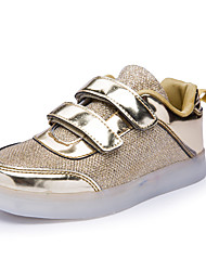 LED Light Up Shoes, Boys' Shoes Athletic / Casual Synthetic Fashion Sneakers Pink / Silver / Gold
