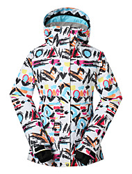 Gsou snow women ski jackets/ snowboard/double snowboard jackets/breathable wearable ski-wear