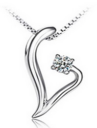 Necklace Pendant Necklaces Jewelry Party / Daily Fashion / Adorable Sterling Silver / Alloy Silver 1pc Gift