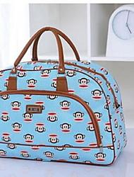 Women PU Outdoor Travel Bag White Pink Blue Black