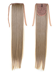 Long Ponytail Extentions 22inch 55cm 100g #16  Synthetic Drawstring Ponytail Long Silky Straight Ponytail