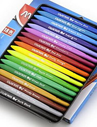 18 Colors Plastic Triangle Crayons