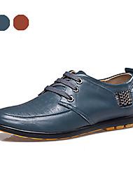 TBLS® Men's Cowhide Oxfords Brown / Green-6251