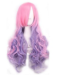 Water Wave Hot Fashion Synthetic Wigs Pink and Purple Mixed Color Ombre Long Cosplay Lolita Style Wigs