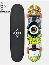 "Skateboard 31"" with a 11mm Chinese 9-ply maple deck ABEC-3 High Speed bearings Wheels 58x32mm"
