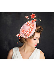 Women's Lace Pearl Net Headpiece-Special Occasion Fascinators 1 Piece