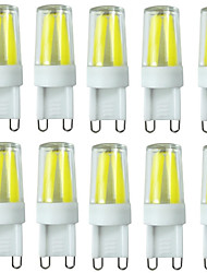 10pcs g9 filamento 2w 4led cob 280-200-250lm caliente / fresco / blanco natural llevó los bulbos dimmable ac220v / 110v